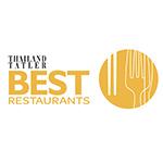 Thailand Tatler's best restaurants award winner